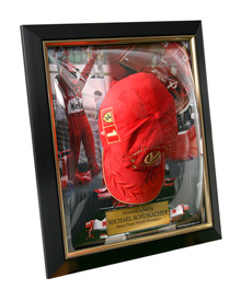 Michael_Schumacher_Signed_Hat_Gold_Frame